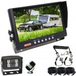 """Large 9"""" Viewing Reversing Camera Monitor with Two Cameras & a  One Camera Suzy Cable For the Camera on the Back of the Trailer or Caravan"""