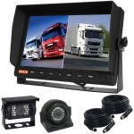 10.1inch Vehicle Reversing Camera Kit With Two Split Monitor And CCD Cameras