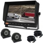 Dual 10.1inch Screen Monitor & Camera Reversing Observation Kit with Two  SHARP Side View Adjustable Eyeball Camera 120°