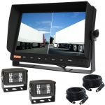 Dual 10.1inch Screen Monitor & Camera Reversing Observation Kit with Two Standard SHARP High Resolution 120° Reversing Cameras