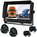 plit Screen Rear-View Monitor 10.1inch  With Two Adjustable Eyeball 120° Cameras