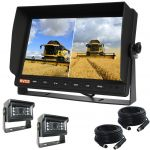 Farming Reversing Camera Kit View Both Cameras on the Screen of the 10.1inch Monitor And 120°  Mini Cameras