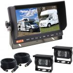 7inch Motor Home Reversing Camera Two Splits Monitor Kit With Two 90° Viewing Angle Cameras