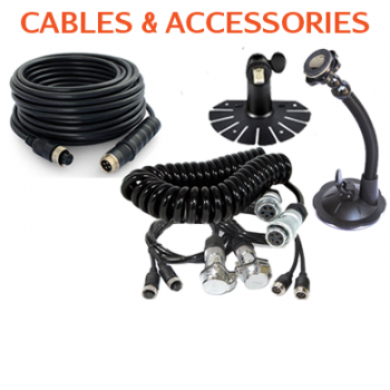 Backup Camera Cables, Sisie cables and Monitor Brackets